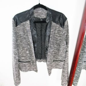 NWT Mossimo  Crop Space Dye Faux Leather Blazer
